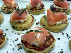 Smoked Salmon Blini - Catering Adelaide